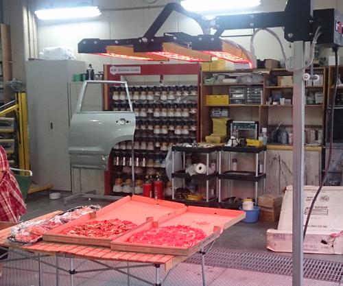 暑気払い2016 遠赤外線短波乾燥機でピザを温める